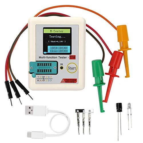 Probador de transistores Tft, portátil, durabilidad, duradero, multifunción, probador de transistores, uso profesional de uso general para equipos, equipos de servicio pesado