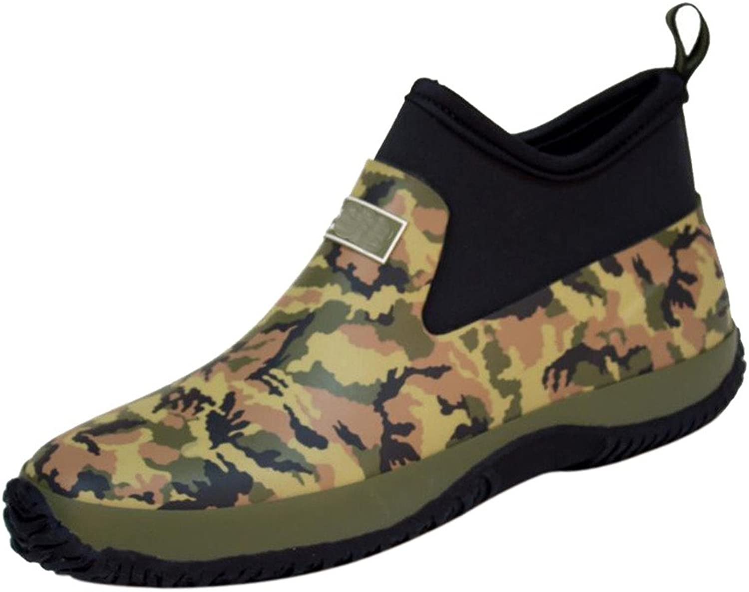 CAMSSOO Women's Men's Anckle High Anti-skidding Rain Boots shoes with Comfort Insole