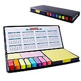 2000 Fogli Note Adesive Colorate e Segnapagina Adesivo Carta, Adesivi Colorati Scrivibili con scatola di imballaggio in PU, Note Adesive per Ufficio segnapagina plastica(350g)