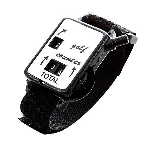 TOOGOO Cuenta de guardian de puntuacion de movimiento de club de golf Reloj del contador de tiro de putt w/ Pulsera Banda Negro