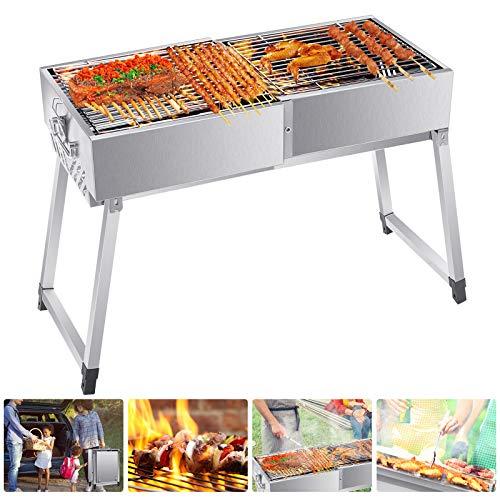 4YANG Barbecue Grill Barbecue Carbone Griglia Barbecue con Grande Griglia Barbecue Grilia Pieghevole Portatile Multifunzionale Giardino Terrazza Campeggio Picnic (5-10 Persone)