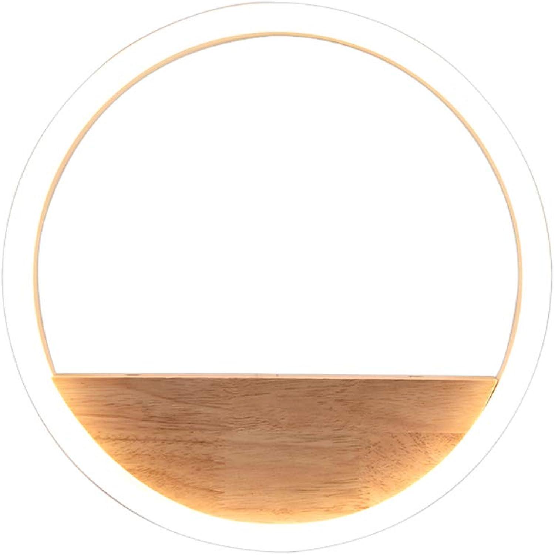 Led massivholz wandleuchte nachttischlampe schlafzimmer gang moderne flur wohnzimmer wandleuchte, warmes weies licht, 24 watt