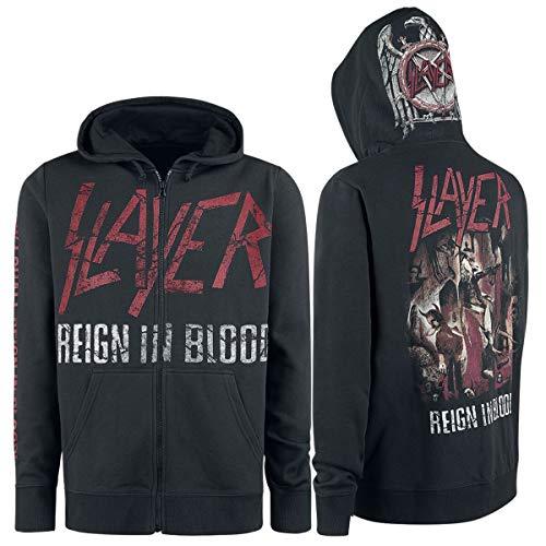 Slayer Reign In Blood Männer Kapuzenjacke schwarz 3XL 70% Baumwolle, 30% Polyester Band-Merch, Bands