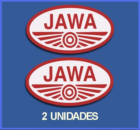Ecoshirt OQ-X9BH-8MWO Sticker Jawa Ref: Dp79 Sticker Motorfiets Decals Motorcycle 5 cm