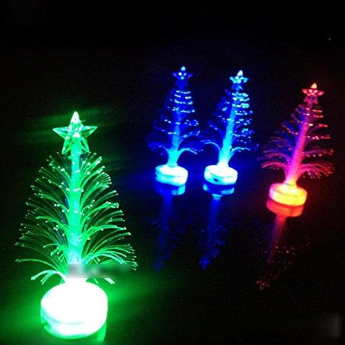 HuaYang Changement de couleur LED Arbre de Noël optique Lumière de décoration de Noël Party Décor