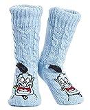 Disney Calcetines Antideslizantes Invierno Mujer Con Personajes Stitch Mickey Minnie, Zapatillas de Punto Forro Polar Para Estar Por Casa, Regalos Para Mujeres Chicas (el genio de Aladdin)