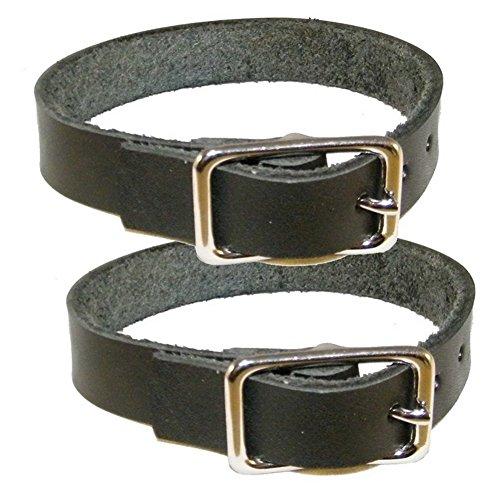Befestigungsriemen 2er Pack - Lederriemen aus schwarzem Blankleder (50cm)