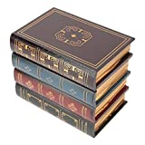 HERCHR Caja de Almacenamiento de Madera de Libros Falsos, Cajas de Almacenamiento Decorativas de Libro de Almacenamiento Oculto con Tapas para la decoración del hogar(S)