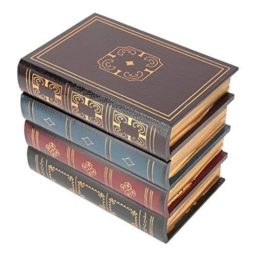 HERCHR Caja de Almacenamiento de Madera de Libros Falsos, Cajas de Almacenamiento Decorativas de Libro de Almacenamiento Oculto con Tapas para la decoración del hogar(L)
