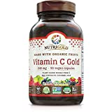 Organic Vitamin C Gold, Whole-food Vitamin C Supplement from Organic Berries and Fruits - NOT Synthetic Ascorbic Acid, 240 mg, 90 Capsules (Corn-free, Certified Organic, Vegan, Kosher, Non-GMO)
