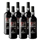 Vino de Oporto Calem Velhotes Tawny - Vino Fortificado- 6 Botellas