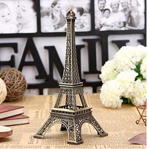 Oulensy del Tono de Bronce de la Torre Eiffel Estatua de la Figura Modelo de la Vendimia Decoración de aleación de 13 cm