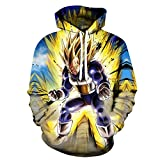 cyxb Sudaderas Hombres con Capucha,Goku 3D Sudaderas con Capucha Sudaderas de Anime japonés Ropa de Hombre Harajuku Hombres Hip Hop de Talla Grande Jerseys otoño-W3537_6XL