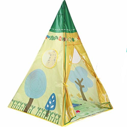 Home experience- Prinz Oder Prinzessin Sommer Kinder Spielen Zelt Haus Indoor Oder Outdoor Garten Indian Tipis Kinder Spielzeug Spielhaus Strand Sonne Zelt Jungen Mädchen (100 × 100 × 150 cm)