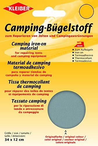 Kleiber + Co.GmbH Quick-Camping-Bügelstoff, grau, ca. 34 cm x 12 cm