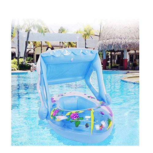 kaige Piscina Inflable, Piscina for niños Familia Inflable Jardín Palmetazos Piscina Flotante de la Vida Marina Palmetazos Kids Pool-262 * 175 * 60cm (Color: Azul, tamaño: 210 * 150 * 60cm) WKY