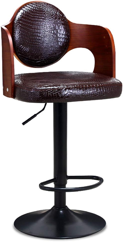 Yan Fei Bar Chair Solid Wood Bar Stool Bar Chair Lift Bar Stool Front Desk Chair Retro High Stool Stool Chair Comfortable Stools (color   B)