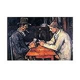 Ignite Wander Jugadores de Cartas Paul Cezanne Impresiones en Lienzo Impresiones...