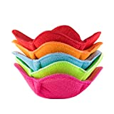 Shila Bowl Huggers, Multi Color Set of Microwave Safe Hot Bowl Holder to Keep Your Hands Cool and...