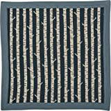 Primitives by Kathy Baby Security Blanket, 16' Square, Blue - Birch Trees