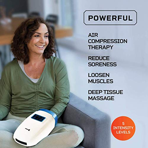 Lifepro Legra Hand Massager Machine - Personal Electric Massager for Wrist, Hand, Palm, Finger Pain Relief, Arthritis, Carpal Tunnel, Numbness - Vibration & Heat Therapy Massager (White)