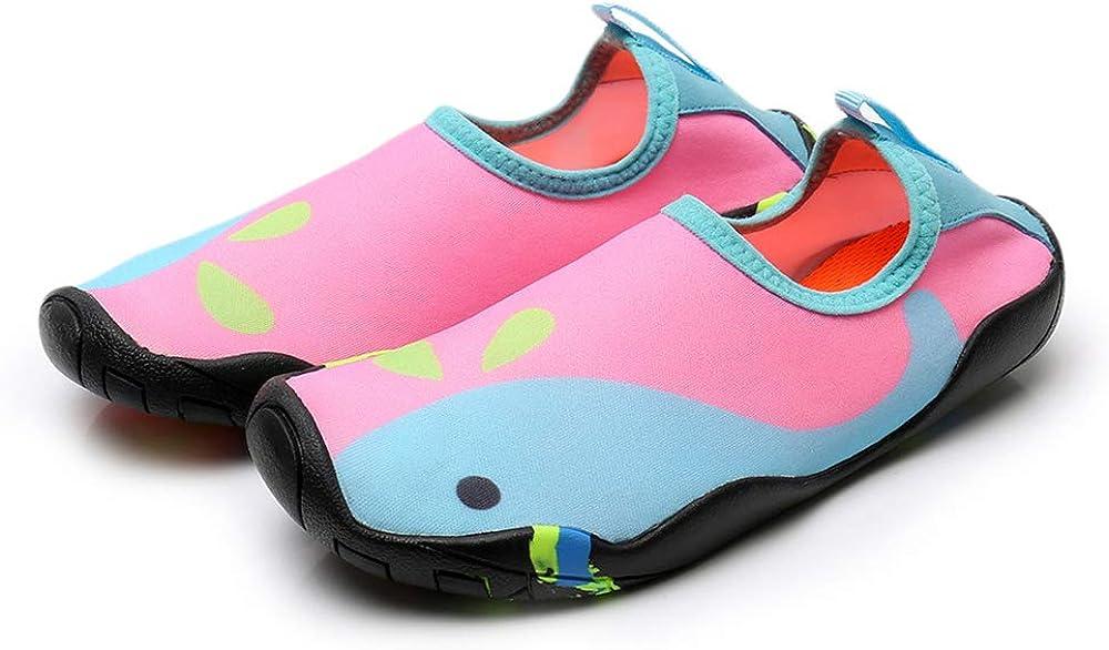Hutop Kids Athletic Water Shoes Aqua Socks Quick-Dry Slip-on Barefoot Lightweight for Outdoor Beach Swim Boys Girls