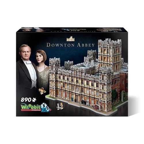 Wrebbit 3D Puzzle 3D, Multicolor, la residencia del Conde de Grantham (W3D-2019)