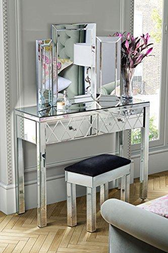 My-Furniture – Knightsbridge Console/Toeletta a Specchio a 4 Gambe