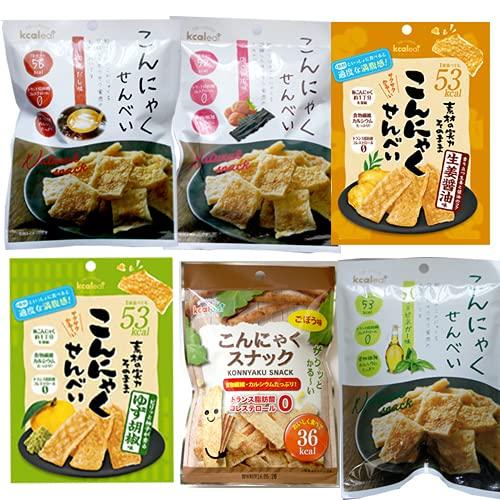 こんにゃくせんべい 6種×10袋 だし・梅こんぶ・ハーブ&ビネガー・柚子胡椒・生姜?油・ごぼう
