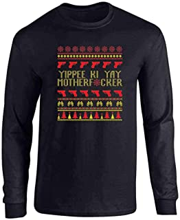 Pop Threads Yippee Ki Yay MFer Christmas Sweater Funny Long Sleeve T-Shirt