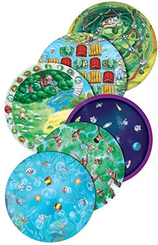 Playte - Kids' Dinner Plate Game - Turn Dinner Time Into Play Time - Teach Your Child Healthy Eating Habits - Perfect for ADHD & Picky Eaters - BPA Free & Dishwasher Safe - Set of 6