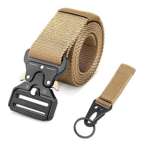 UBORSE Cinturon Tactico para Hombres Militar Cinturón Nylon Hebilla de Metal de Liberación Rápida para el Ejército de Entrenamiento de Caza