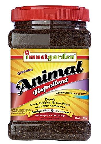 I Must Garden Deer, Rabbit and Groundhog Repellent: All-Weather Granular Formula – 2.5lb Shaker Jar
