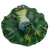 MAGT Schwimmende Tierfigur, Swimming Pool Pond Schwimmende Tierbadewanne Extrem Realistische Lustige Frosch Auf Dem Rücken Liegend Garten Dekor Figur