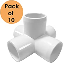 SELLERS360 5Way 1 inch Tee PVC Fitting Elbow - Build Heavy Duty PVC Furniture - PVC Elbow Fittings [Pack of 10]