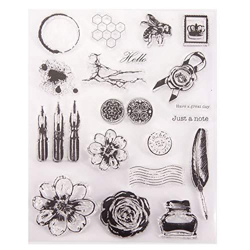 Arrietty Marcas de tinta de estilo vintage con diseño de panal de abeja, para hacer tarjetas, decoración y álbumes de recortes