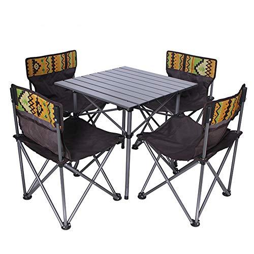 APXZC Outdoor klaptafel en stoel, lichtgewicht, gemakkelijk te dragen, aluminiumlegering materiaal, robuust, stabiel en duurzaam, voor outdoor, camping, strand, barbecue