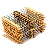 DollaTek 300PCS 1/2W Watt 1% Carbon Film Resistors Assorted Kit Set 30 Values (1 ohm~ 3M ohm)