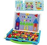 Moonlove Juguete para niños 1000 piezas de doble pegboards Jigsaw Puzzle para 2 niños Juega Educativa Construcción Creativa DIY Mosaico Juguetes Cumpleaños para Niños Niñas Más de 3 años