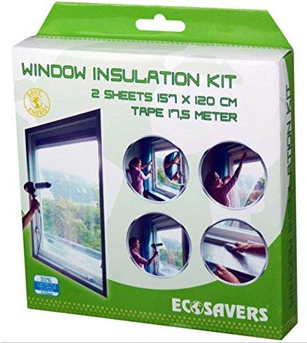Ecosavers Window Insulation Kit 2 Sheets + tap