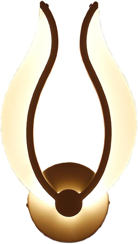 YONG FEI Wandlampen Aplique LED moderno minimalisti, Kreativitts-Flamme führte Wand-Lampen-modernes einfaches Eisen-Wand-Licht-Wei -9W warmes weies Licht Beleuchtung zu Hause (Farbe   A)