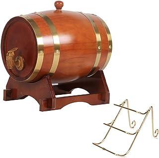 Baril à Vin 10L, Seau de Stockage pour Restaurant avec Casier à Vin Whisky, bière, Port de Spiritueux (Color : Chocolate, ...