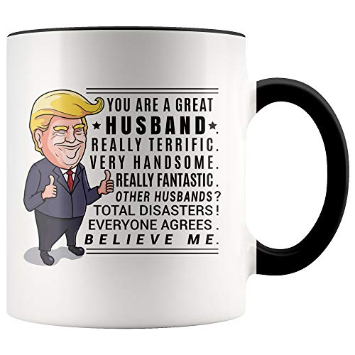 YouNique Designs Donald Trump Husband Mug, 11 Ounces, Cool Anniversary Cup for Husband from Wife