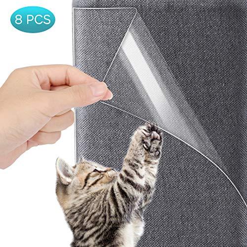 Yosoo Health Gear Cat Möbelbeschützer Kratzschutz transparent mit Stiften, zum Schutz von Polstermöbeln, Sofas, Teppichen und Türen, 8 STK. (47x15cm, 45x30cm)