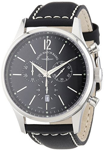 Zeno Watch Basel Herren-Armbanduhr XL Quarz Analog Leder 6564-5030Q-i1