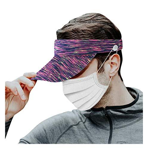 Visoren Unisex Cap Einstellbar Anti-UV Hüte für Reisen Radsport Tinnesspielen Kappe Einheitsgröße Hat Snapback Baseballcap Sommer Sport Mütze Hip Hop mit Knöpfe Ohrenschmerzen lindern Piebo