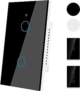 (2021 versión mejorada)Interruptor de luz de pared inteligente WiFi, Interruptor de pared,tecla táctil de alta sensibilida...