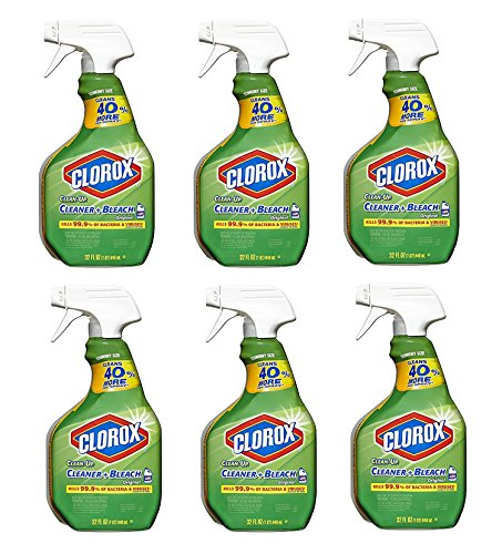 Clorox Original Clean-Up All Purpose Cleaner with Bleach 32 oz. Spray Bottle - Bundle of 6