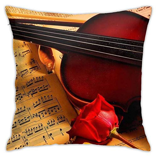 XCNGG Kissenbezug Home Kissenbezug Bettwäsche Throw Pillow Case, Violin Pillow...