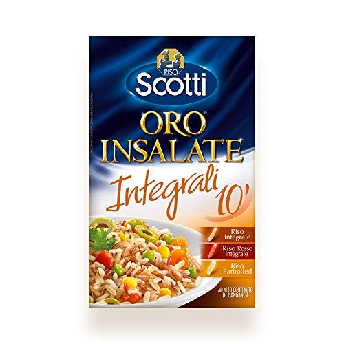Riso Scotti - Riso Oro Insalate Integrali 10  - Mix di Riso Integrale, Riso Rosso Integrale e Riso Parboiled - 850 gr